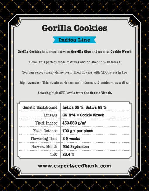 Gorilla Cookies back 1