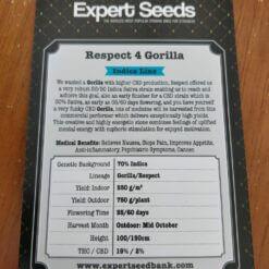 Respect 4 Gorilla Expert Seeds Irish Seed Bank 2