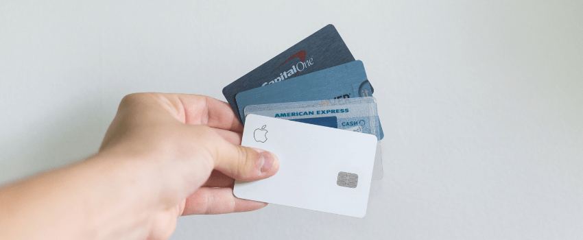grinding weed with a credit card